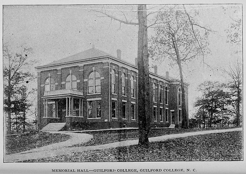 Memorial Hall, Guilford College, 1896
