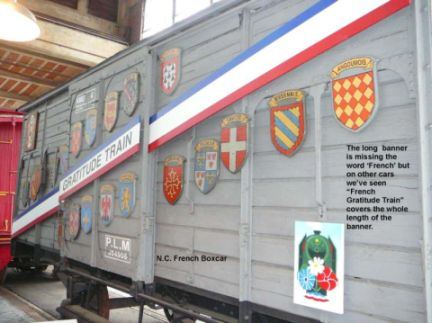 North Carolina French Gratitude Train; North Carolina Museum of Transportation, Spencer, NC.