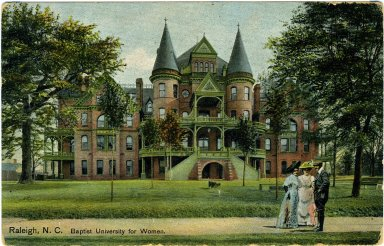 Baptist Female University, postcard