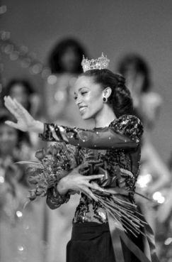Deneen Z. Graham of North Wilkesboro after being crowned Miss North Carolina on 25 June 1983. She was the first African American to win the title. Courtesy of North Carolina Office of Archives and History, Raleigh.