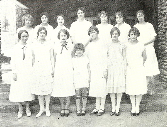 Normal and College Graduating Class, the Sun Dial, 1926.