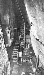 Moonshiner's cave, no date, unknown location in North carolina. From the General Negative Collection, North Carolina State Archives, Raleigh, NC, call #: N_81_10_40.