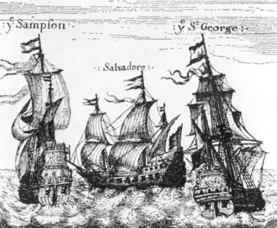 Navigation Acts: Dutch ships masquerading as English vessels, Photograph, from Encyclopædia Britannica Online.