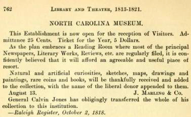 Excerpt from North Carolina schools and academies, 1790-1840; a documentary history (1915) p. 762 by Charles Coon. Image courtesy of the Internet Archive.