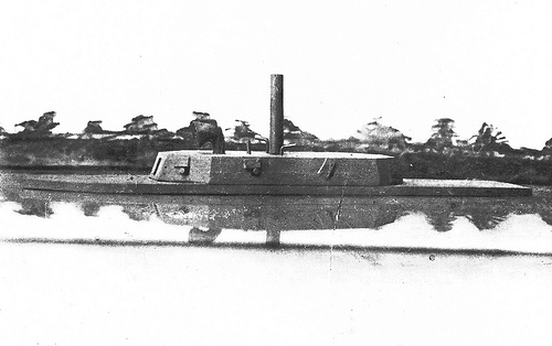 """CSS Neuse Confed Gun Boat. Model of the CSS Neuse."" From the General Negative Collection, North Carolina State Archives, Raleigh, NC. Call #:N_64_1_184."