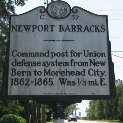 Newport Barracks Marker