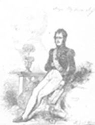"""""Ney by Himself"" From P.S. Ney's copy of History of Napolean. Ney added a sketch and comments to the illustration."" Image courtesy of Davidson College Archives."