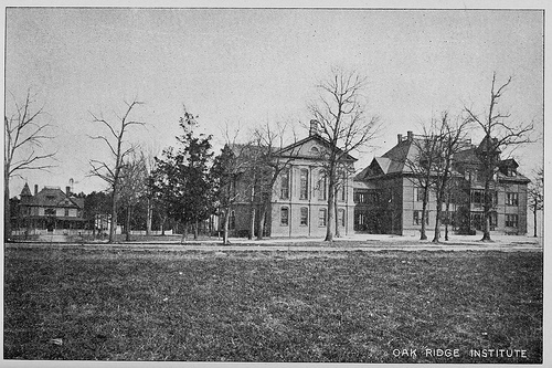 Oak Ridge Institute. From the 1896-1898 Biennial Report of the Superintendent of Public Instruction of North Carolina from the State Library of North Carolina.