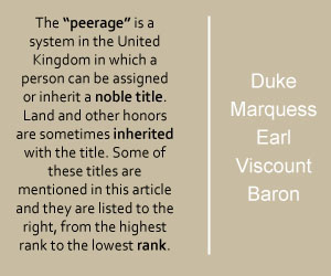 Titles of British peerage