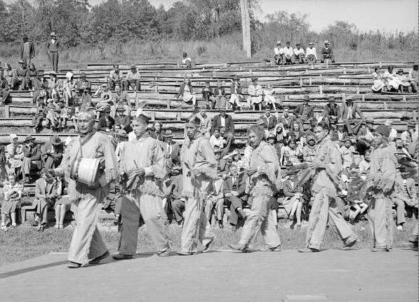 Performance at the Cherokee Fair, 1939.