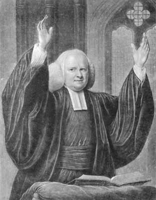 George Whitdield, North Carolina itinerant preacher. Image courtesy of Wheaton College.
