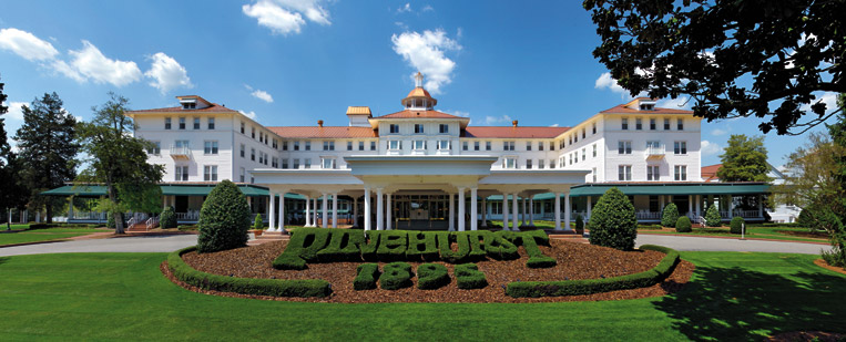 Pinehurst, a resort town, designed by Frederick Olmsted. Image courtesy of Pinehurt website.