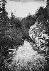 """On the eYonahlossee road, May 11, 1910. Frank W. Bicknell Photograph Collection, PhC.8, North Carolina State Archives, call #:  PhC8_307, Raleigh, NC."