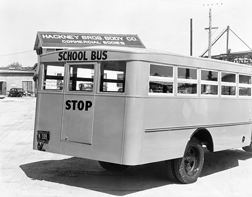 School Bus, 1936. From the Barden Collection, North Carolina State Archives, call #:  N.53.15.6644, Raleigh, NC.