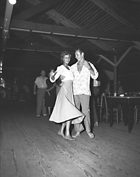 Couple dancing or shagging, Nags Head, NC, 1948. From Conservation and Development Department, Travel and Tourism Division Photo Files, North Carolina State Archives, call #:  ConDev7202B.