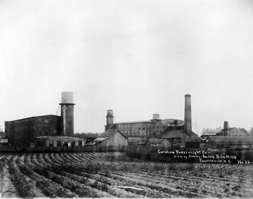 Ashley Bailey Silk Mills, c.1910, Fayetteville, NC. From the Carolina Power and Light (CP&L) Photograph Collection, North Carolina State Archives, call #: PhC68_1_306, Raleigh, NC.
