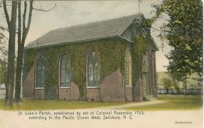 St. Lukes Church in Salisbury. Image courtesy of Rowan County Public Library.