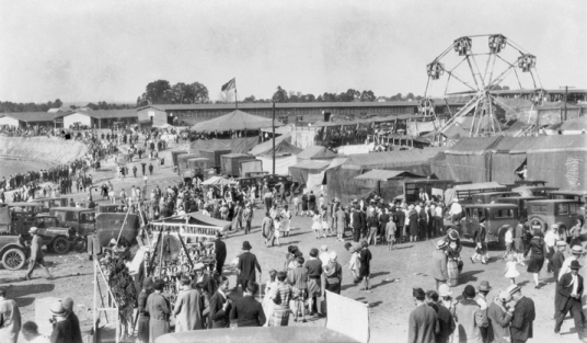 The State Fairgrounds, 1928. Photograph by Ben Dixon MacNeill. North Carolina Collection, University of North Carolina at Chapel Hill Library.