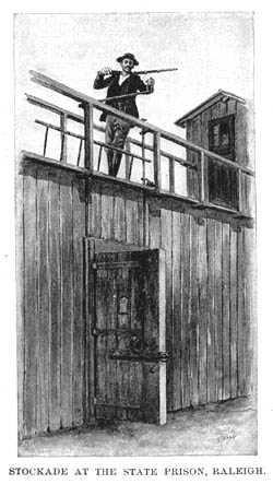 Image of the State Prison in Raleigh from Harpers, 1895.
