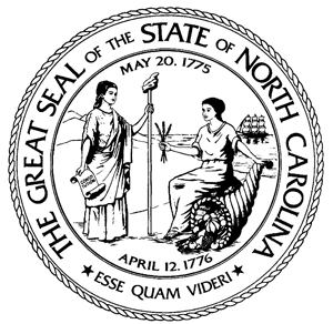 Great seal of the state of North Carolina