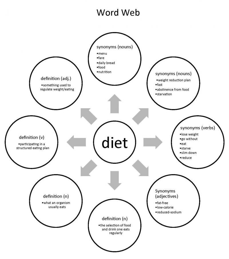 i u0026 39 m on a diet word web