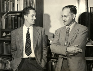 """William Styron, left, with Professor William Blackburn, who taught Styron in writing classes at Duke University."" Image courtesy of Duke University."