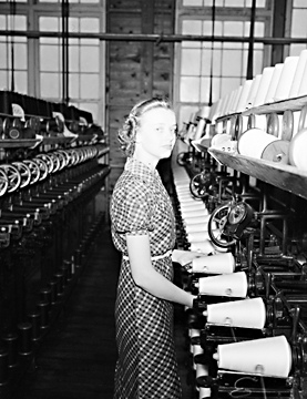 The task system was commonly used the textile, tobacco, and furniture industries in North Carolina. Image courtesy of North Carolina State Archives.