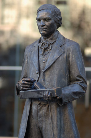 Thomas Day statue outside the NC Museum of History
