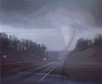 Stoneville, NC,  March 20, 1998. Image courtesy of National Weather Service.