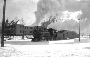 Train in Hamlet, NC, 1910.