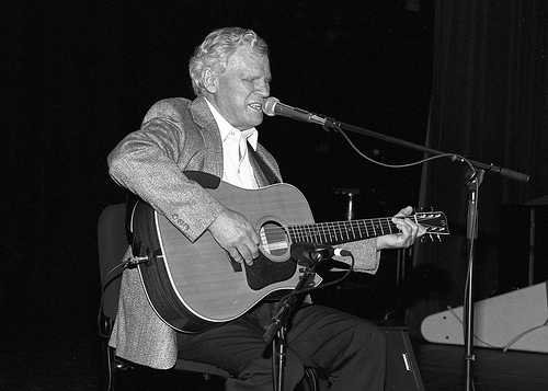 Doc Watson at the North Carolina Folk Heritage Awards in 1994, Raleigh, NC. From the General Negative Collection, State Archives of North Carolina, call #: N_2012_5_083.