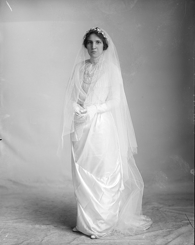 Bride  Unidentified bride, no date (c.1910-1920). From the Barden Collection, North Carolina State Archives, Raleigh, NC, call #:  N_53_15_8042.