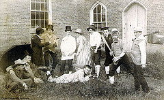"Cast from ""The Womanless Wedding,"" ca. 1890  Trinity College drama group. Image courtesy of Duke University Archives."