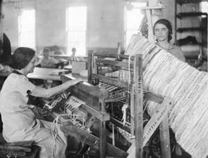 Women making rugs in Durham County, c. 1934